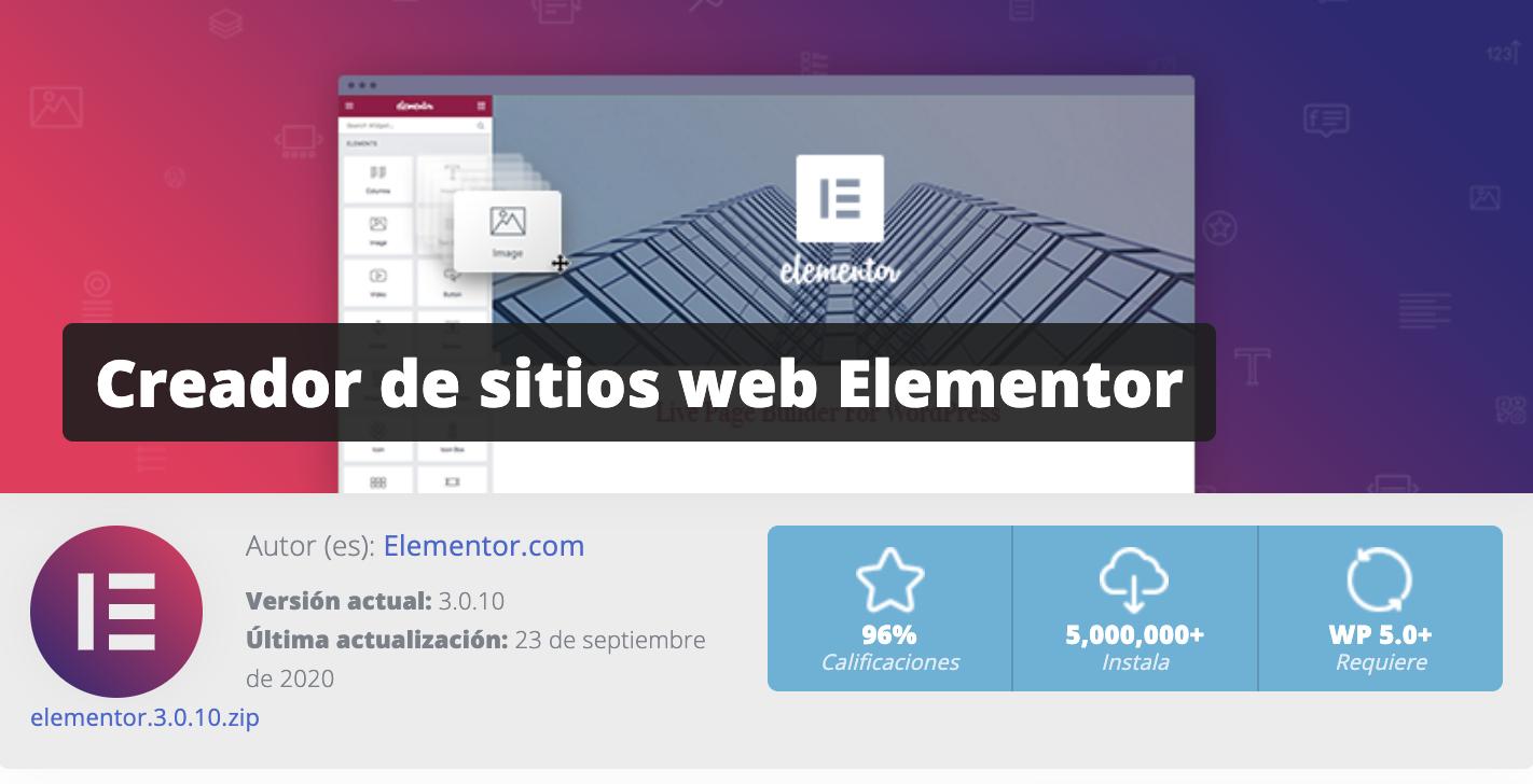 Elementor paginas web galapagar