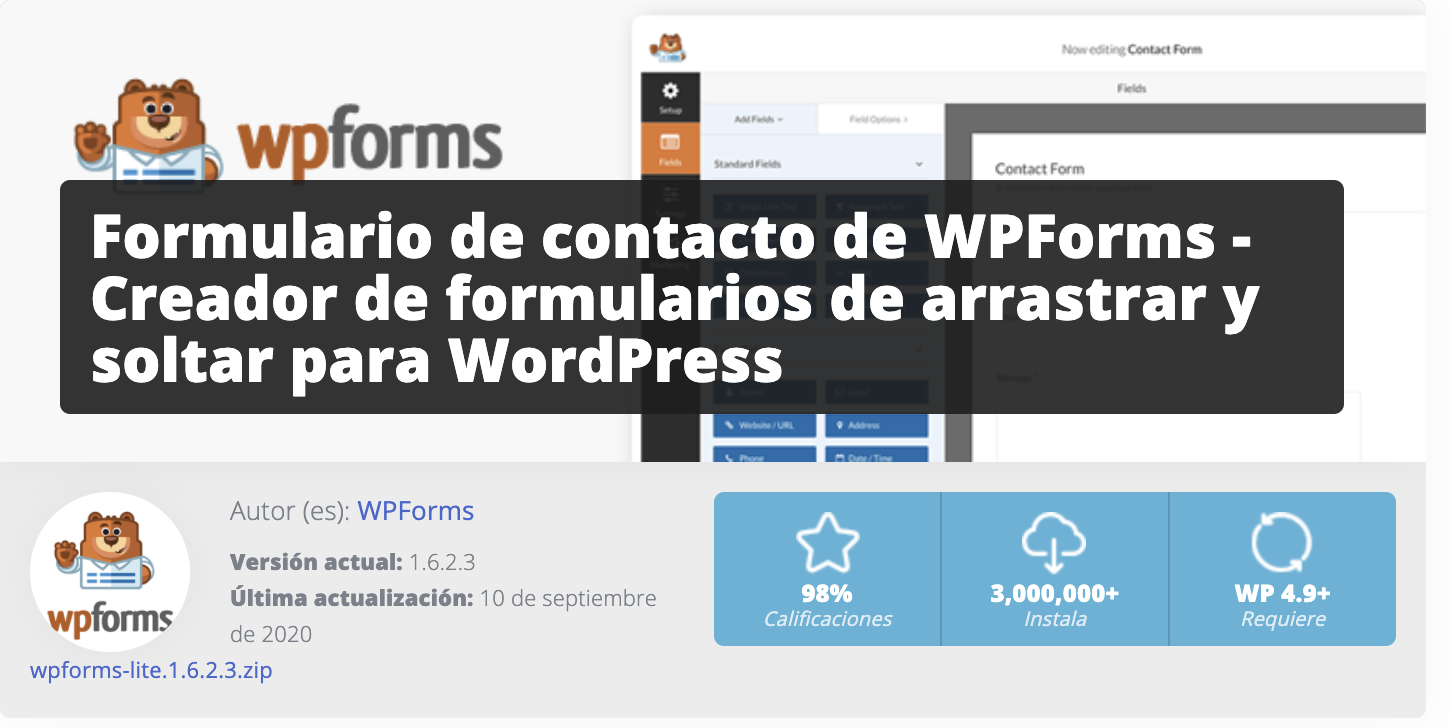 wp forms paginas web sierra de madrid
