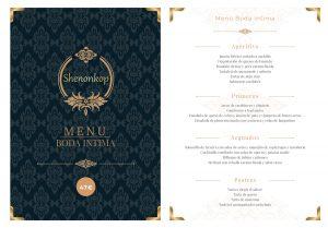 Menús para bodas Shenonkop